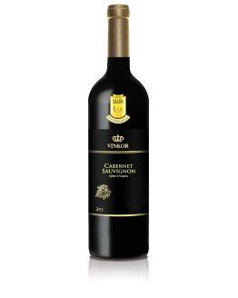 Červené víno Cabernet Sauvignon 2015,výber z hrozna - vinárstvo Vinkor Malé Karpaty