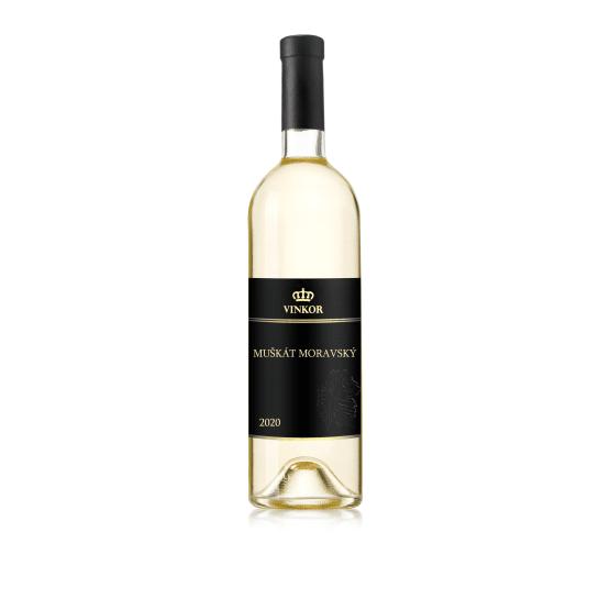 Biele víno Muškát Moravský 2020 - vinárstvo Vinkor Malé Karpaty