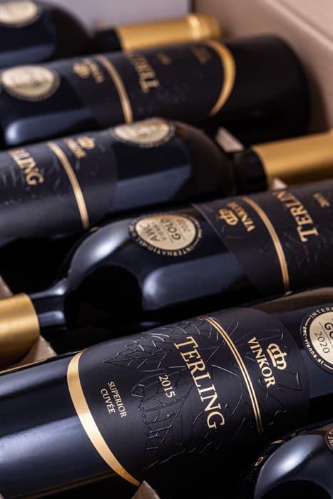 Červené víno Cuveé Terling 2015 - vinárstvo Vinkor Malé Karpaty