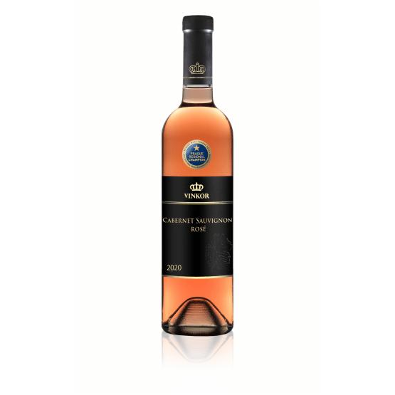 Ružové víno Cabernet Sauvignon Rosé 2020 - vinárstvo Vinkor Malé Karpaty